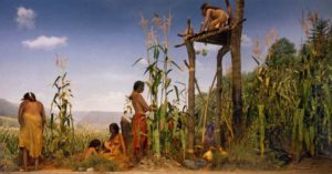 Native Americans Planting Three Sisters